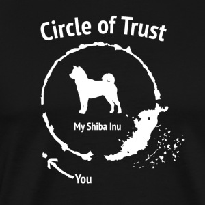 Funny Shiba Inu Shirt - Circle of Trust - Men's Premium T-Shirt