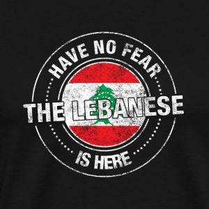 Har No Fear The Lebanese Is Here - Premium T-skjorte for menn