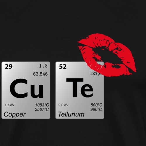 Periodensystem cute - Männer Premium T-Shirt