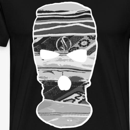 Dase One Hoodmask grey - Männer Premium T-Shirt