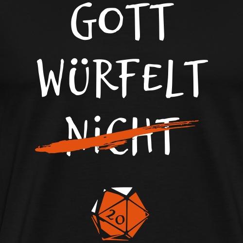 Pen and paper gott wuerfelt - Männer Premium T-Shirt