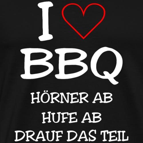 BBQ: I LOVE BARBECUE - Männer Premium T-Shirt