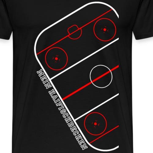 Eishockey court Haifischbecken - Männer Premium T-Shirt