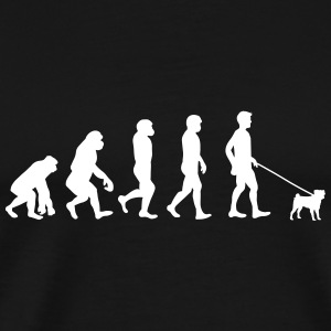 Pug - Evolution - Mannen Premium T-shirt
