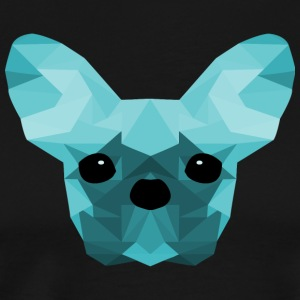French Bulldog Low Poly Design cyan - Men's Premium T-Shirt