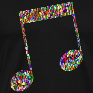 Musical note - Mosaic - Premium T-skjorte for menn