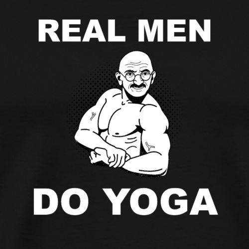 Real Men Do Yoga - T-shirt Premium Homme