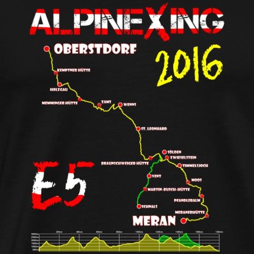 E5 Oberstdorf Meran 2016 - Männer Premium T-Shirt