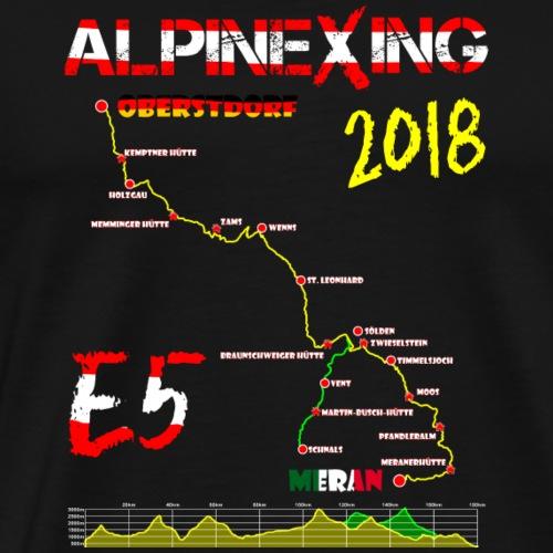 E5 Oberstdorf Meran 2018 - Männer Premium T-Shirt