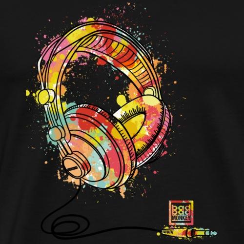 Crazy DJ Headphones - Men's Premium T-Shirt