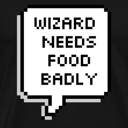 Wizard needs food badly - Men's Premium T-Shirt