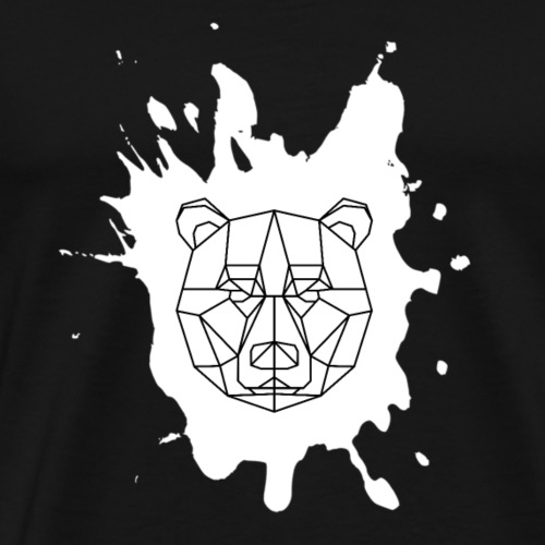 Bär Geometrisch splash - Männer Premium T-Shirt