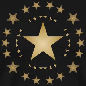 Stars in gold - Men's Premium T-Shirt