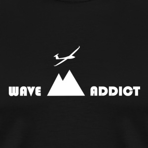 Wave addict white - Men's Premium T-Shirt