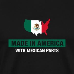 Made In America With Mexican Parts Mexico Flag - Premium-T-shirt herr