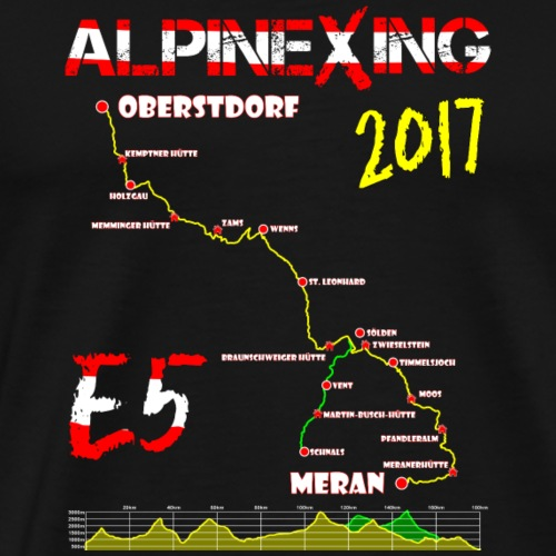 E5 Oberstdorf Meran 2017 - Männer Premium T-Shirt