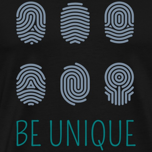BE UNIQUE Fingerabdruck | Das bunte Zebra - Männer Premium T-Shirt