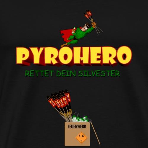 Pyro Hero Feuerwerk - Männer Premium T-Shirt