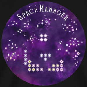 Space manager with purple sky - Men's Premium T-Shirt
