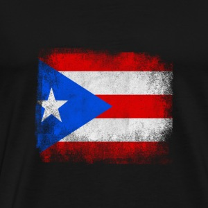 Puerto Rico State Flag Distressed Vintage Shirt - Herre premium T-shirt