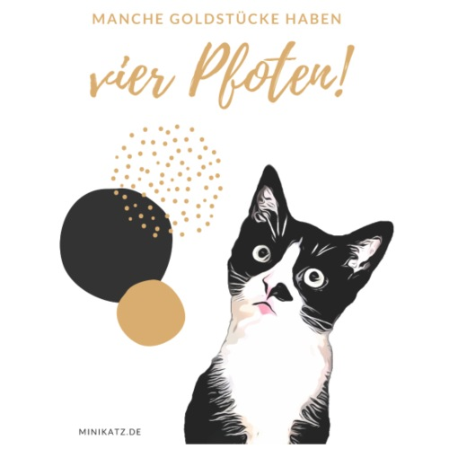 Filou-Kollektion mit goldfarbener Schrift - Männer Premium T-Shirt