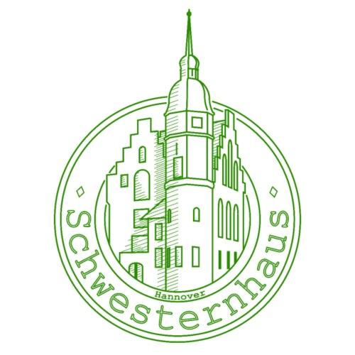 Schwesternhaus Logo Grün Transparent - Männer Premium T-Shirt
