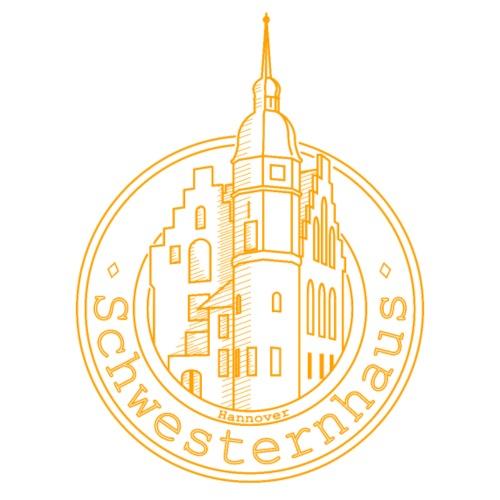 Schwesternhaus Logo Gelb Transparent - Männer Premium T-Shirt