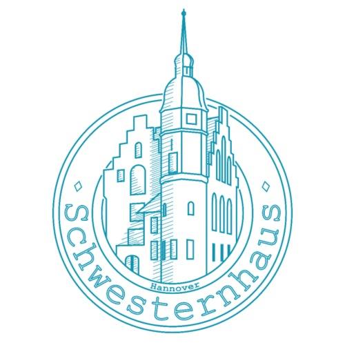Schwesternhaus Logo Türkis Transparent - Männer Premium T-Shirt