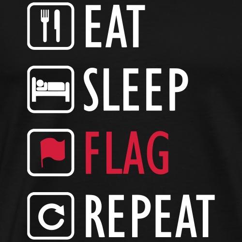 eat sleep FLAG repeat - Maglietta Premium da uomo
