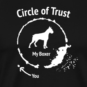 Funny Boxer Shirt - Circle of Trust - Men's Premium T-Shirt