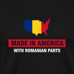 Made In America With Romanian Parts Romania Flag - Men's Premium T-Shirt