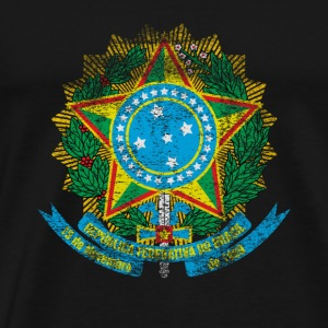 Brasilianske Coat of Arms Brasilien Symbol - Herre premium T-shirt