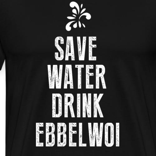 Apfelwein äbbelwoi ebbelwoi handkäs hessen ffm 069 - Männer Premium T-Shirt