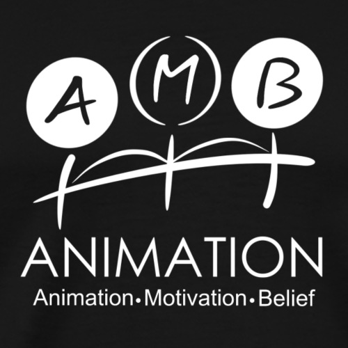 AMB Logo Animation Motivation Belief - Men's Premium T-Shirt