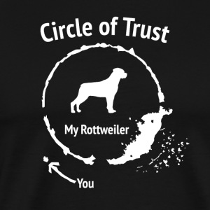 Funny Rottweiler Shirt - Circle of Trust - Men's Premium T-Shirt
