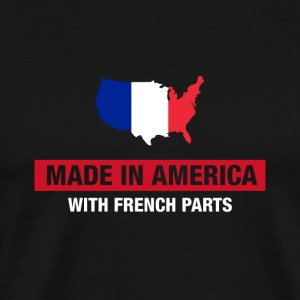 Made In America With French Parts France Flag - Men's Premium T-Shirt