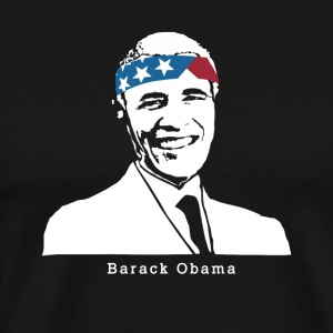 President Barack Obama Vintage American Patriot - Men's Premium T-Shirt