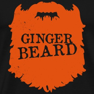 Mens Ginger Beard Men Club Bearded - bart - Männer Premium T-Shirt