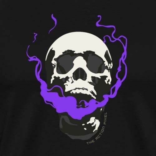 The Smoking Skull - Men's Premium T-Shirt