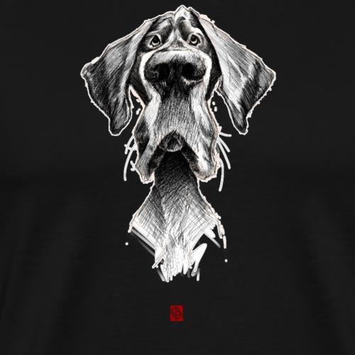 Sketchy Chien - T-shirt Premium Homme
