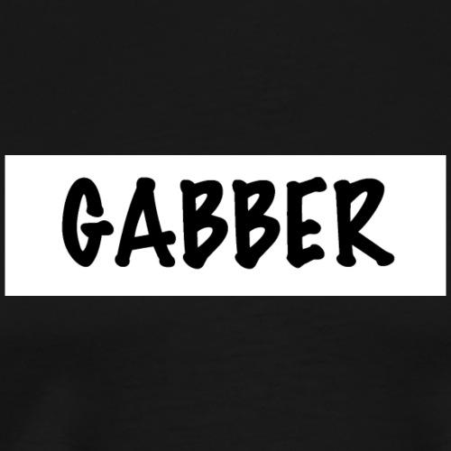 GABBER T-Shirt (white Design) - Männer Premium T-Shirt