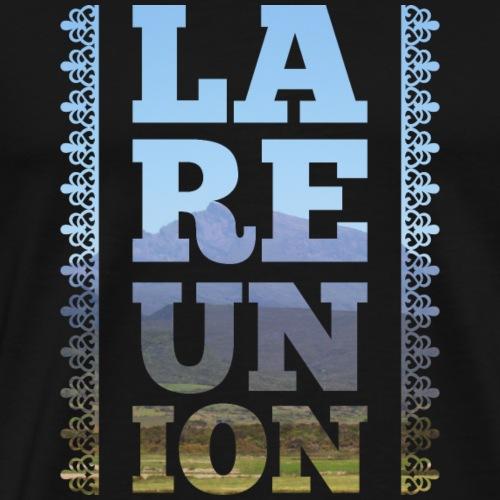 La Réunion photo et lambrequins - T-shirt Premium Homme