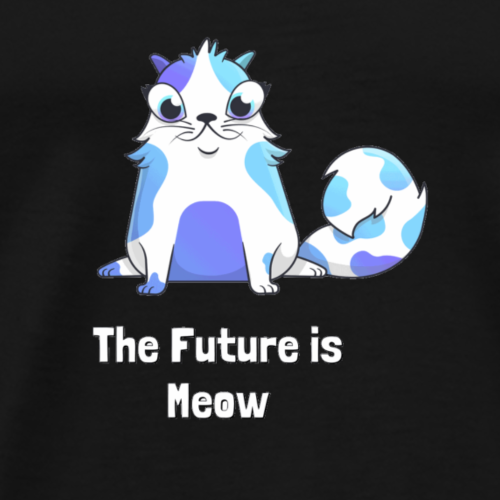 Ethereum CryptoKitties Lola The Future Is Meow - Männer Premium T-Shirt