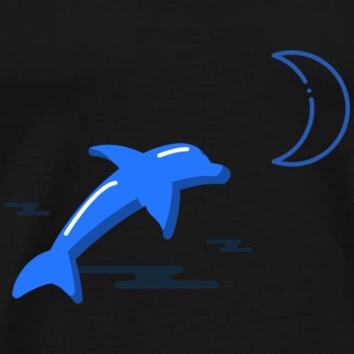 Moonlit Dolphin - Men's Premium T-Shirt