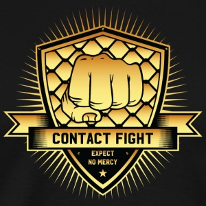 Contact Fight Gold - Mannen Premium T-shirt