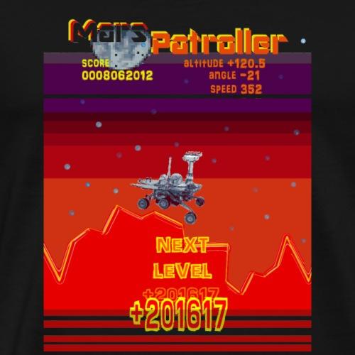 Mars Patroller 80s Retro Gamer Geek Spel T-Shirt - Mannen Premium T-shirt