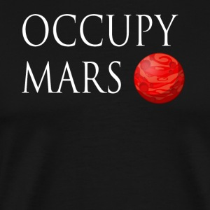 Occupy March Space - Herre premium T-shirt