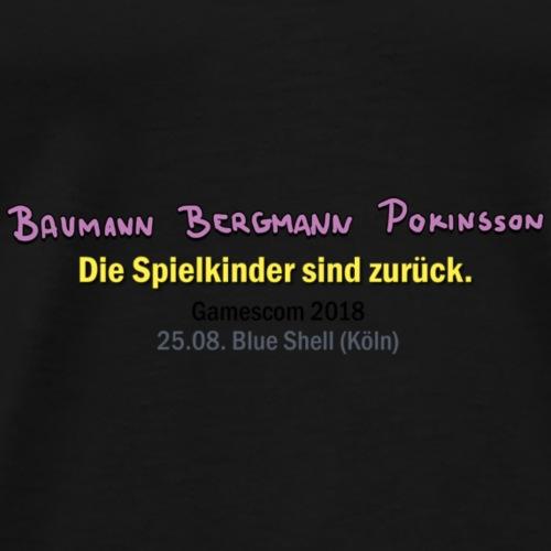 BBP Gamescom 2018 Konzert (schwarze Schrift) - Männer Premium T-Shirt