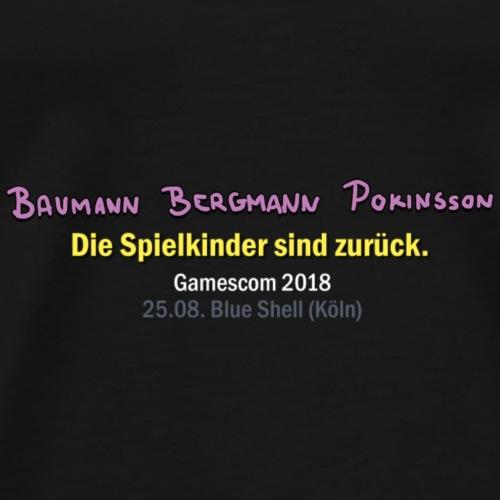 BBP Gamescom 2018 Konzertdaten (Weiße Schrift) - Männer Premium T-Shirt
