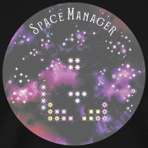 Space manager with sky - Men's Premium T-Shirt